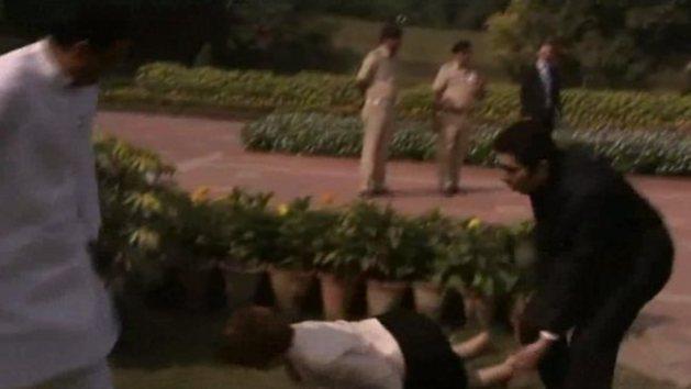 Gillard falls in India